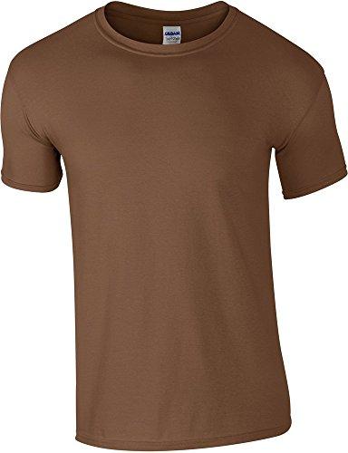 Gildan Soft-Style Herren T-Shirt, Kurzarm, Rundhalsausschnitt Braun - Braun