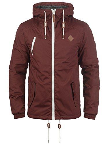 !Solid Tilden Herren Übergangsjacke Herrenjacke Jacke Mit Kapuze, Größe:XL, Farbe:Wine Red (0985) Solid Windjacke