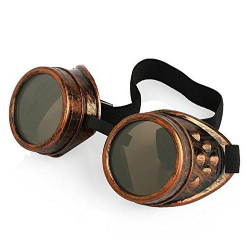 vycloud (TM) Vintage New Arrival Herren Damen Sonnenbrille Vintage Steampunk Brillen Punk Sun Glasses red copper