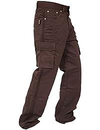 Denim de protection moto Moto travail Pantalons Pantalons Jeans Cargo renforcé avec protection Aramide Doublure 4 couleurs