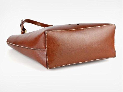 DJB/Vintage Leder Damen Tasche handbag-tanned Leder Handtasche rotbraun