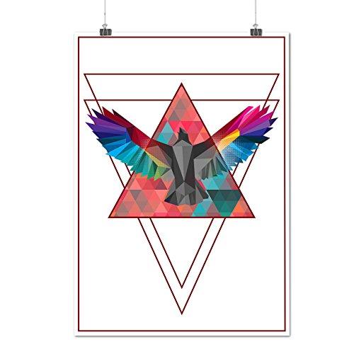 Geometrisch Vogel Mode Vogel Flug Mattes/Glänzende Plakat A3 (42cm x 30cm) | (Flug Weiblich Kostüm Anzug)