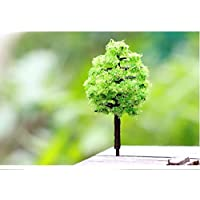 Milopon Miniatur Weihnachtsbaum Mini-Baum Fairy Garden Ornament Harz Handwerk DIY Puppenhaus Dekoration 5cm
