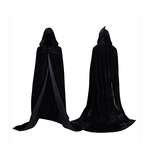 Labellevie Cape à capuchon Longue Velvet Adulte Unisexe Déguisement Costume Hallow