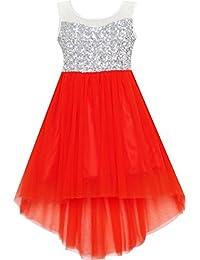 db56fc6e2 Amazon.co.uk  Red - Dresses   Girls  Clothing