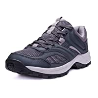 CAMEL CROWN Hiking Shoes for Men Tennis Trail Running Backpacking Walking Shoes Comfortable Slip Resistant Sneakers Lightweight Athletic Trekking Low Top Boot Grey 9D(M)