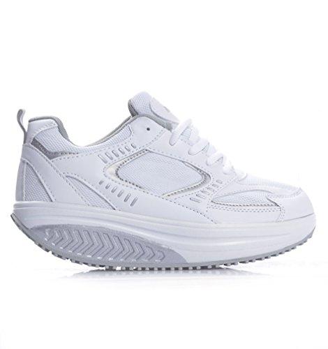 brand new b7f9d 45a23 Schuhe Damen sneaners Fitness Caprihose Sport Gymnastik, Weiß - Bianco -  Größe  39