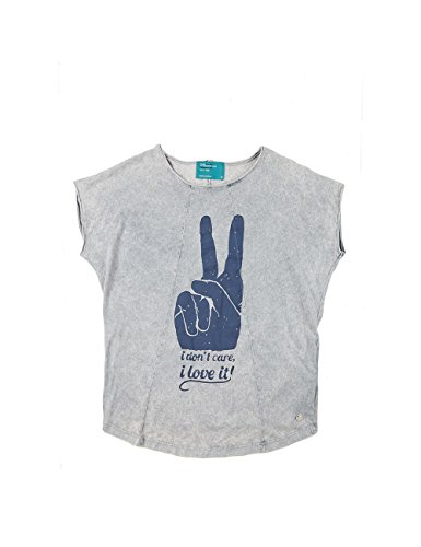 Dear Tee Camiseta Mujer i Dont Care, T-Shirt Donna Grigio