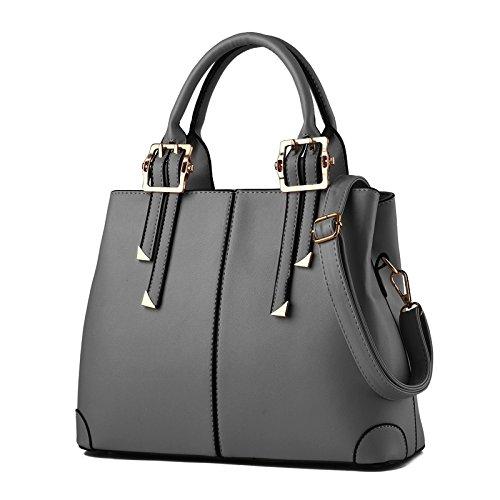 Nicole&Doris 2017 neue Art und Weise Handtasche tragbaren Umhängetasche beiläufige Kurier-Beutel-Geldbeutel für Damen(Gray)