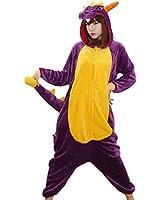 Purple Dragon Adult Men Women Unisex Animal Sleepsuit Kigurumi Cosplay Costume Pajamas Outfit Nonopnd Nightclothes Onesies Halloween Cheap Costume Clothing