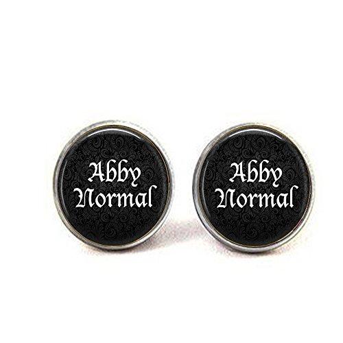 qws Abby Normale Halskette - lustiges Zitat - abnormal - Frankenstein Schmuck - Cosplay Ohrringe (Frankenstein Halloween Quotes)