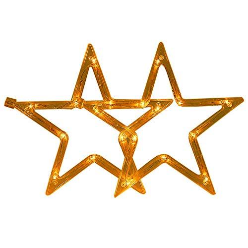 Star-decken-beleuchtung (Vorhang licht LED Star Dekorative Lampe Warm White Christmas Holiday-Strings Dekorationen für Living Room Bedroom Outdoor Entertainment Wedding/Party/Home/Patio Rasen)