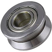 cnbtr plata 15x 40x 18mm Guía de rodillo de V Groove rodamientos de bolas de acero