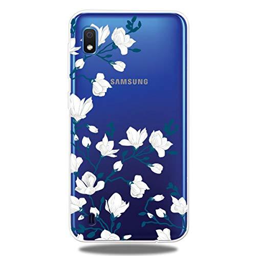 Transparent Durchsichtige Gel für Samsung A10,Kristal Klar Clear Colorful Cartoon Bumper Crystal Niedliche Silikon Soft Ultra Dünn TPU Gummi Hülle -
