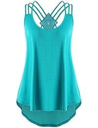 KIMODO Damen Bekleidung T Shirt Bluse Tank Top Damen Camisole Sommer Lose  Weste Schwarz Rosa Mode ca0f173cd9