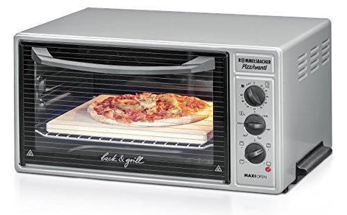 ROMMELSBACHER BG 1600 PizzAvanti Minibackofen mit leistungsstarker Grillfunktion / 40 Liter / CLEANemail Beschichtung / Timer / Innenbeleuchtung / Pizzaofen / 1600 W / anthrazit