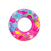 Swimming Ring PVC Flamingo Inflatable Swim Ring Thicken Round Lifebuoy Pool Party Toys 70cm