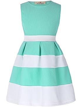 GRACE KARIN Aermellos A-linie Prinzessin Maedchen Kleid Partykleid