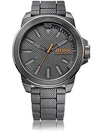 BOSS Orange Herren-Armbanduhr NEW YORK Analog Quarz Silikon 1513005
