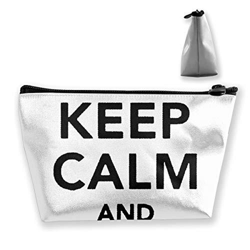 Stay'quiet Kitesurfing Go Borsa per articoli da toeletta Borsa grande per cosmetici con trapezio Chiusura a cerniera