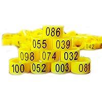 Nuevo 100 piezas 8 mm 1-100 numeradas bandas de pierna de ave aves pájaro