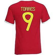Fernando Torres Spain Ringer Tee (red)