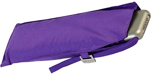 doppler Regenschirm Taschenschirm Mini Slim Carbonsteel sturmsicher bis 100km/h flach & leicht simply purple