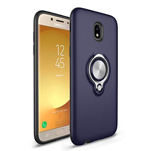 Lasvos Compatible with hülle Samsung Galaxy J5 2017 hülle Ring Stand 560 Grad drehbarer Seidig matt PC Schutzhülle Bumper Outdoor Stoßfest Handyhülle für Galaxy J5 2017 (Samsung Galaxy J5 2017, Blau) -