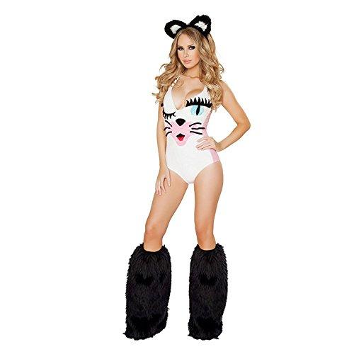 DLucc Halloween- Kostüm-Partei -Halloween- Festspiele Uniformen Versuchung zu spielen Catwoman -Kostüm Elvis geladen