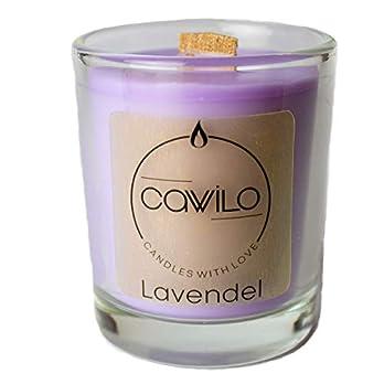 Cawilo Lavendel – Sojawachskerze mit Holzdocht