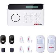 SZABTO Dispositivo de alarma inhalámbrico con línea de teléfono, sensor para puertas, sensor de