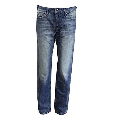 Hugo Boss Jeans Barcelona Mens Blue Regular Fit Denim Short Leg Length