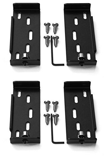 Preisvergleich Produktbild 2 x AluFixx Car Basic schwarz matt eloxiert Nummernschildhalter Kennzeichenhalter PKW aus Aluminium