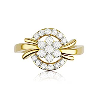 KIAH 18KT Yellow Gold and Diamond Ring for Women