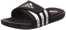 adidas Adissage, Unisex-Erwachsene Dusch- & Badeschuhe, Schwarz (Core Black/Silver Metallic/Core Black 0), 43 EU (9 UK)