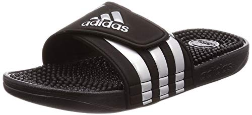 Adidas Adissage Ciabatte Unisex - Adulto, Nero (Core Black/Silver Met./Core Black Core Black/Silver Met./Core Black), 46 EU