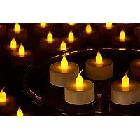GOYAL Flameless Maple LED Tealight (Yellow) - Set of 6