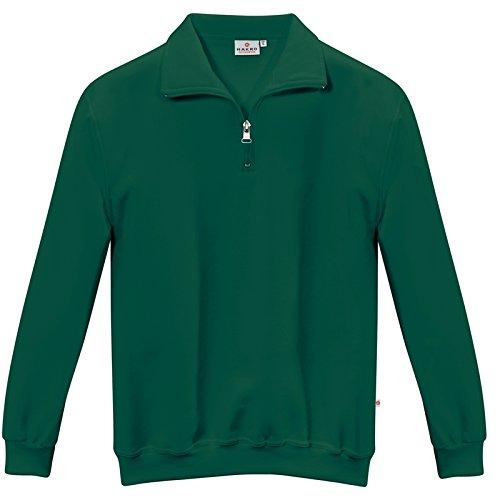 Zip Sweatshirt dunkelgrün Größen XS