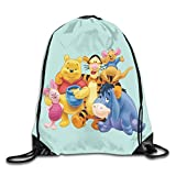 SKDJFBUD Winnie The Pooh Drawstring Backpack Bag Beam Mouth Yoga Sackpack Rucksack Shoulder Bags for...