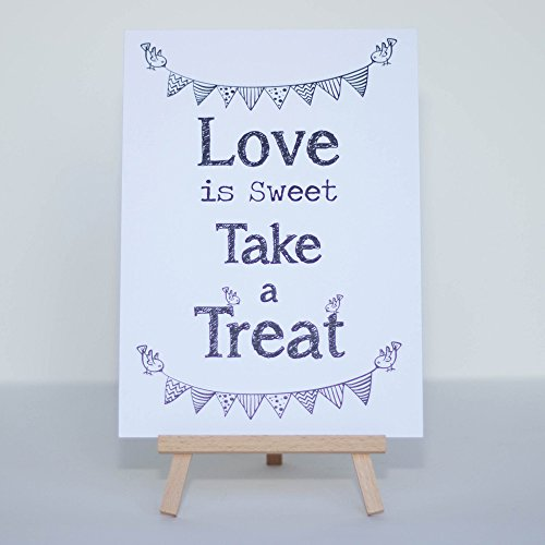 Sweet table accessories amazon luck and luck candy sweet bar sign white love is sweet sign and easel stand wedding junglespirit Choice Image