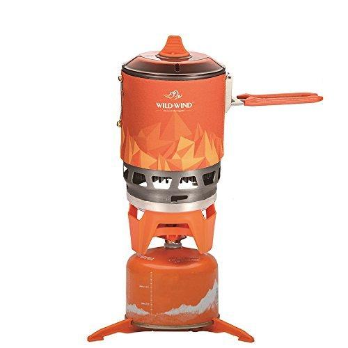 Wild Wind Star X3Outdoor Kochen System Tragbarer Camping Herd mit Piezo Zündung Pot Support & Ständer-Ultralight KOMPAKT winddicht hohe Heizung Effizienz-Propan & Butan Kanister -, Camping (Kompakte Camping Herd)