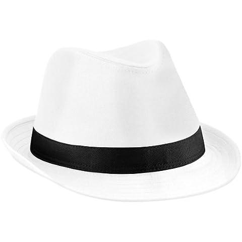 Beechfield - Cappello di Feltro (S-M) (Bianco/Nero) - Feltro Bianco