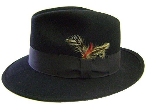 232601a5294 Modestone Unisex Fedora Henschel Feather Fabric Hatband Chapeaux Cowboy L
