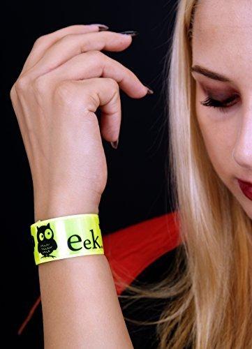 LK Trend & Style Armband Reflektor Schnapparmband Kinder Halloween Karneval Armschmuck Sicherheit, 3-er Set