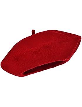 Tinta unita berretto cappello 100% lana berretto invernale autunno donna Francese | Ragazza Fashion cappelli