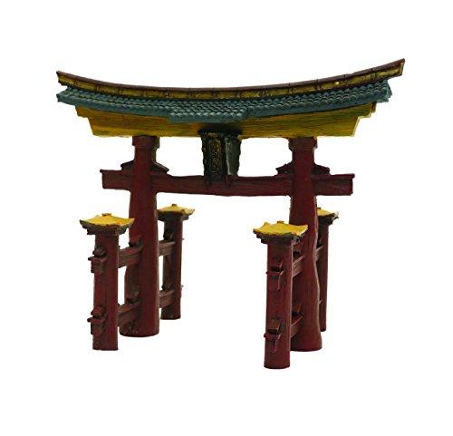 Rosewood Torii - Adorno para puerta de acuario japonés