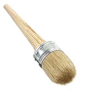 Kreide Lack Wachs Pinsel für Malerei oder Wachsen, Natürliche Borste Runde Pinsel, Perfekt für Möbel, Schablonen, Wohnkultur, Holz