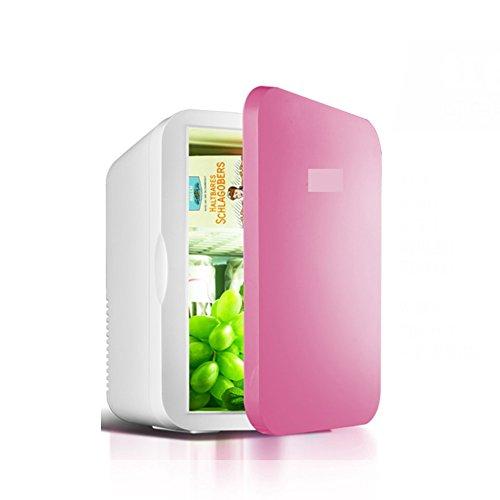 SL&BX Auto mini kühlschrank,6l mini wohnheim haus dual-use-kälte wärme halbleiter brust milch wärme erhaltung frische box-Rot - Brust, Mit Gefrierfach Kühlschrank