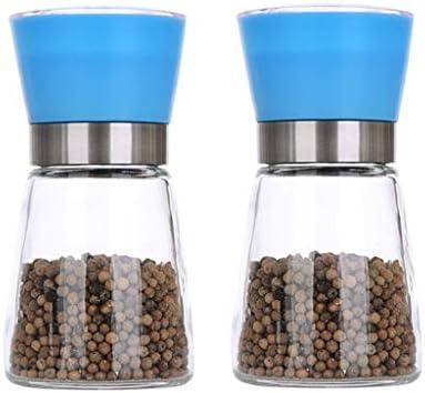 MLMHLMR L'ampolla per Vetro per Fashion Smerigliatrice Fashion per È Comoda Bottiglia di condimento (Coloreee   Blu) b93517