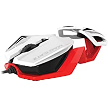 Mad Catz - Ratón R.A.T. 1, Color Blanco/Rojo (PC)